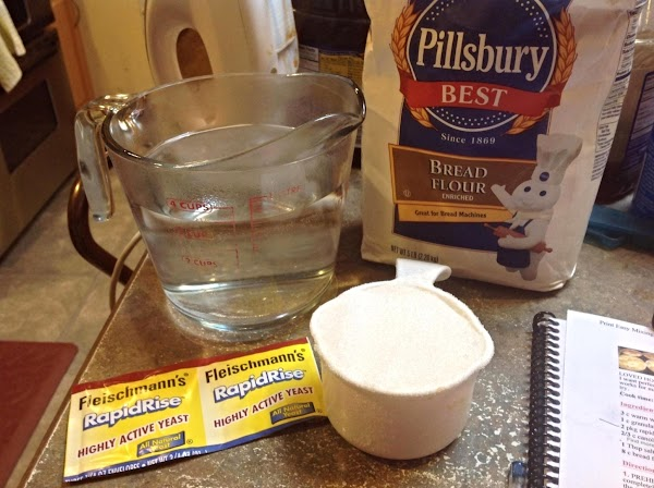 Main ingredients needed to make the rolls, I prefer to use Bread Flour, and...