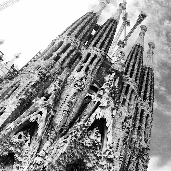 Photo: La Sagrada Familia! Gaudi's funk-tastic church.