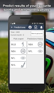 Sports News, Predictions and Scores - náhled