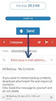 Screenshot of MCBackup - My Contacts Backup