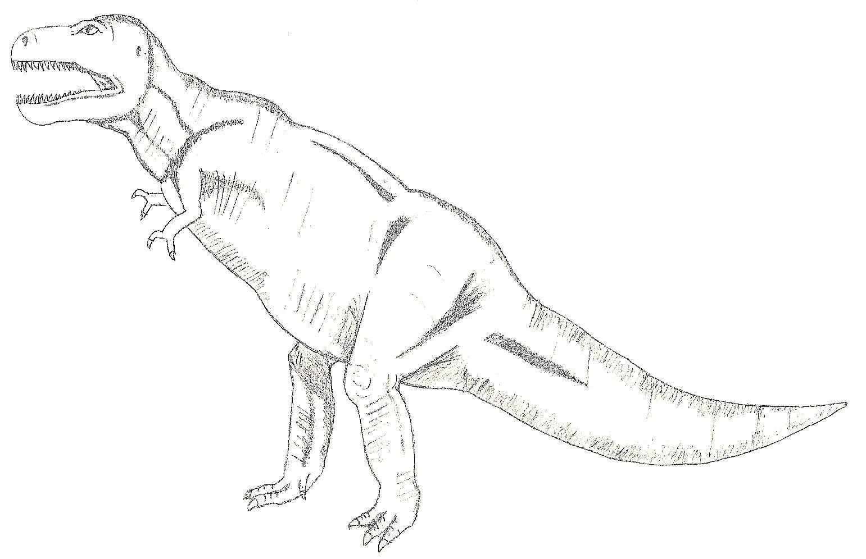 File:Tyrannosaurus rex Skizze