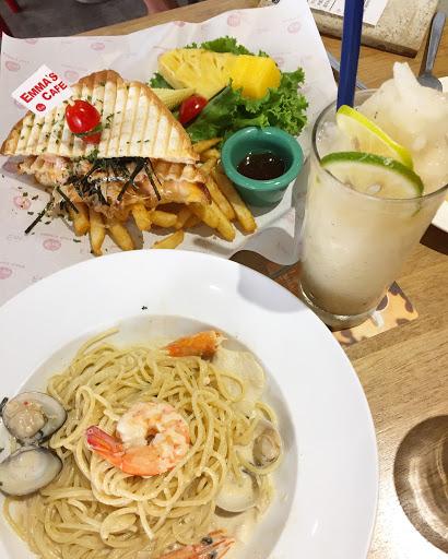 明石章魚燒帕尼尼、特濃奶油海鮮義大利麵、摩奇多檸檬