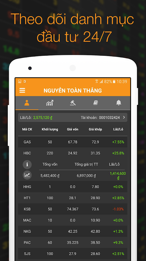VNDIRECT Trading Application- screenshot