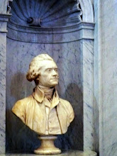 Photo: Thomas Jefferson, whose library formed the basis for the Library of Congress collection and its classification system, is honored with a marble bust on the north wall of the main entrance.