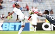 Orlando Pirates' Zambian striker Justin Shonga scored a second half brace to steer the Buccaneers to a comfortable victory at Orlando Stadium. of Orlando Pirates challenged by Abdoulaye Kante of Horoya during the 2019 TOTAL CAF Champions League match between Orlando Pirates and Horoya at the Orlando Stadium, Soweto on the 18 January 2019 ©