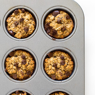 Healthy Banana Chocolate Oatmeal Muffins.