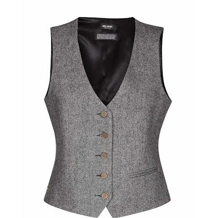 Mos Mosh Dolce waistcoat grey