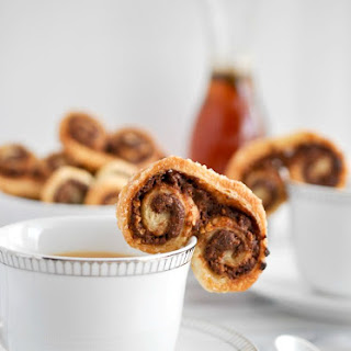 Peanut Butter Chocolate Palmiers