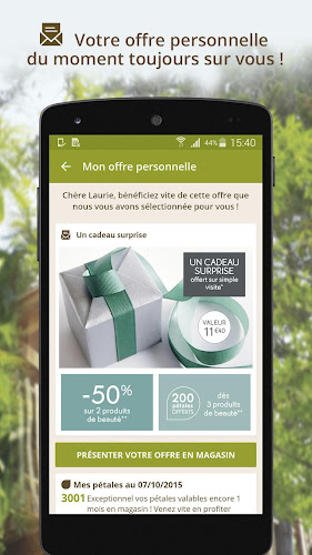 Yves Rocher & MOI Android App Screenshot