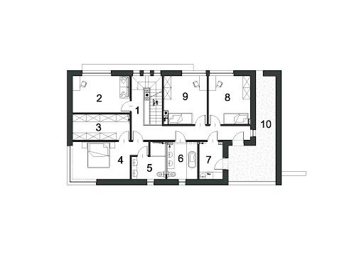 Elegancki D24 - Rzut piętra