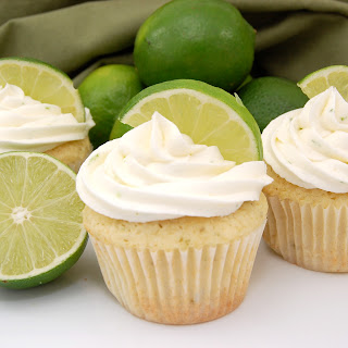 Margarita Cupcakes with Tequila Lime Buttercream Frosting.