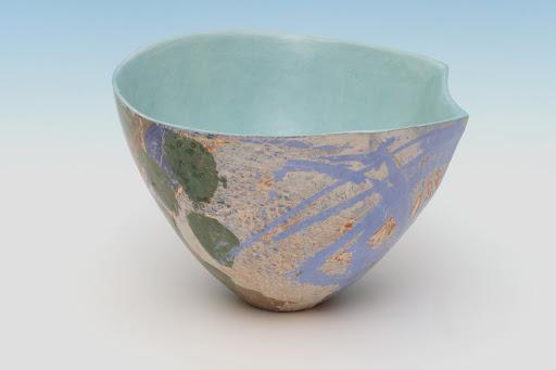 Carolyn Genders Ceramic Vessel entitled 'Eau de nil III'