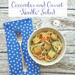 """Cucumber and Carrot """"Noodle"""" Salad"""