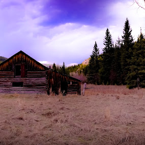 by David  Clayton - Buildings & Architecture Decaying & Abandoned ( mountains, mountain, forest, wilderness, montana, cabin, evergreen, prairie,  )