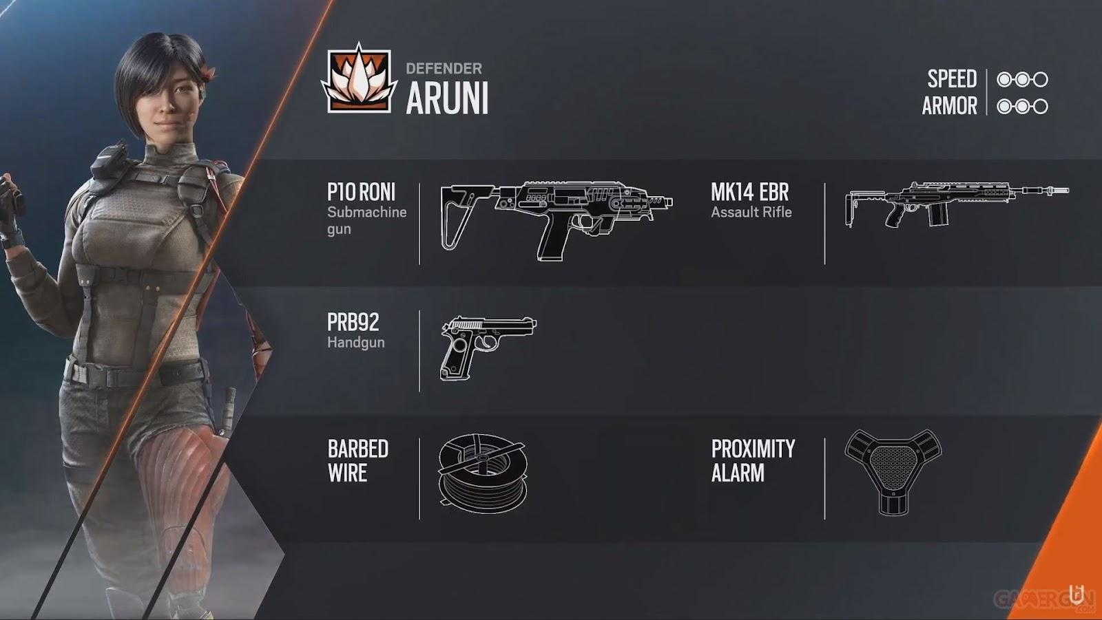 Aruni Siege habilidades