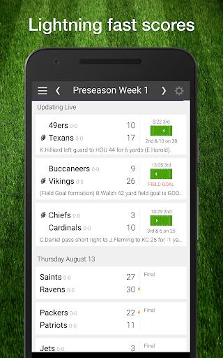 Football NFL 2017 Live Scores, Stats, & Schedules screenshot