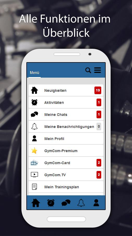 GymCom- screenshot