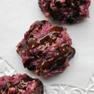 Raspberry Dark Chocolate Macaroons.