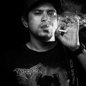 Smoker. by Maji Shuki - People Portraits of Men