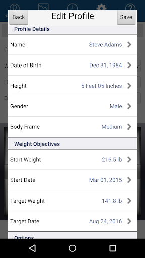 Monitor Your Weight 4.9.8.1 screenshots 5