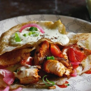 Savoury Crepes with Za'atar Spiced Chicken