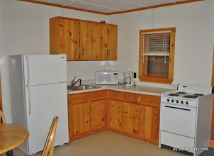 Photo: The kitchen of the cottage at Crystal Lake State Park