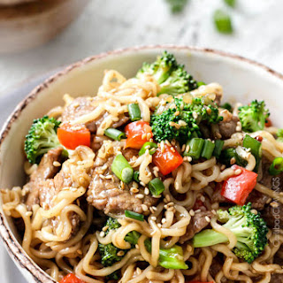 Beef and Broccoli Noodle Bowls