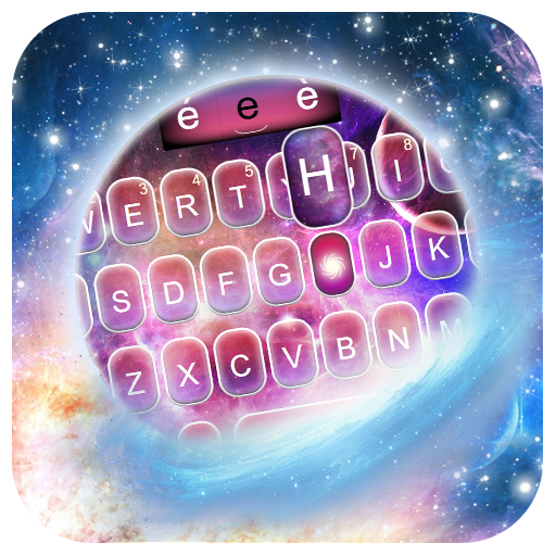 Galaxy Dreamy Nebula Keyboard Theme Icon