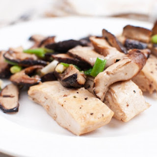 Seared Chicken Breast With Shiitake Mushrooms.