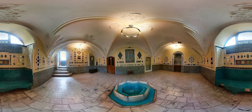 Photo: Spring house, Moghadam house-museum, Tehran, Iran حوضخانه باغ موزه مقدم، تهران