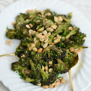 Roasted Broccoli with Peanuts.