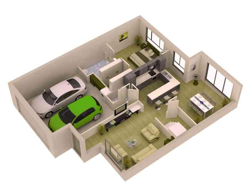 3d Small Home Plan Ideas Screenshot