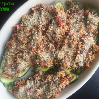 Chorizo Stuffed Zucchini (5 Ingredients!)