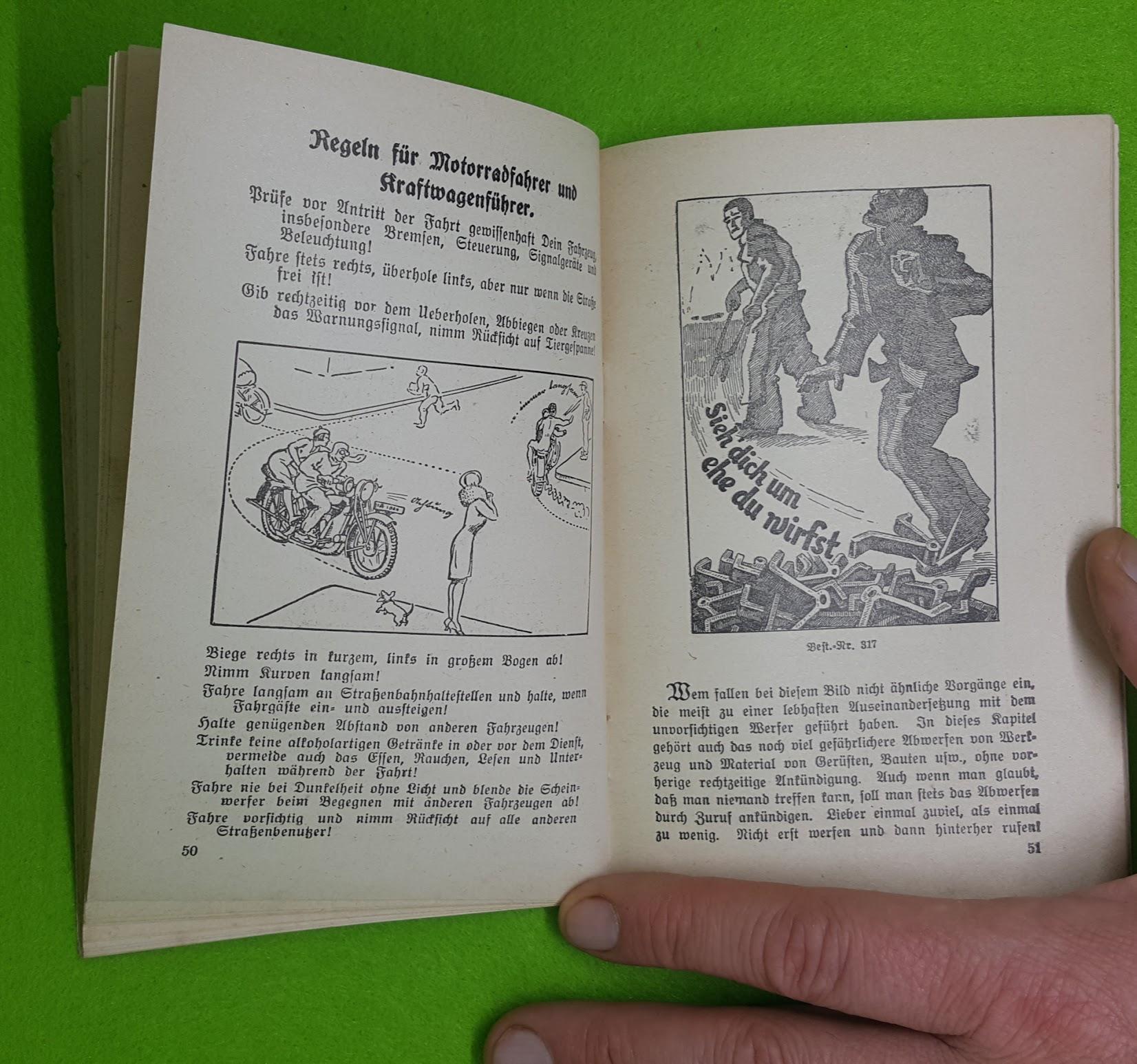 Unfallverhütungskalender von 1930