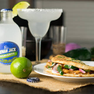 Ancho Chicken Flatbread Sandwich with Cilantro and Lime.