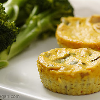 Mini Crustless Tofu Quiches.
