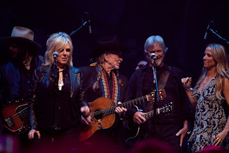 "Photo: AUSTIN, TX - APRIL 20:  (L - R) Don Was, Lucinda Williams, Willie Nelson, Kris Kristofferson, and Sheryl Crow perform during ""We Walk The Line: A Celebration Of The Music Of Johnny Cash"" at ACL Live on April 20, 2012 in Austin, Texas.  (Photo by Rick Kern/WireImage)"