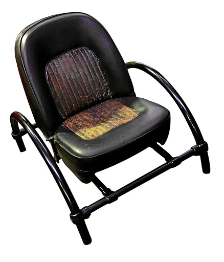 Original 1980s leather Rover chair. Picture: SUPPLIED