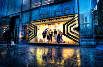 Photo: It was a whirlwind trip to NYC and I was trying to squeeze in as much street photography as possible. This was on our last day and I got up early to walk over and shoot the Apple store. On my way there I stopped to set up and shoot this Gucci store window.