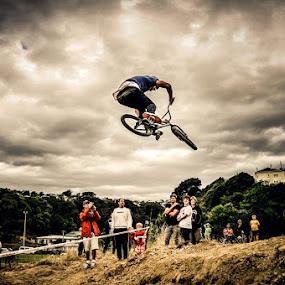 Flying High by Graeme Carlisle - Sports & Fitness Cycling ( bike, bmx, jump )