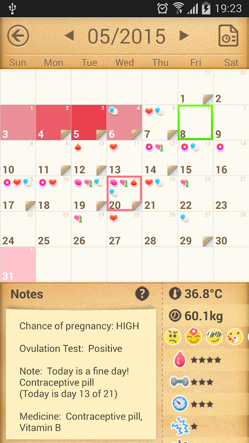 Period Calendar / Tracker - screenshot