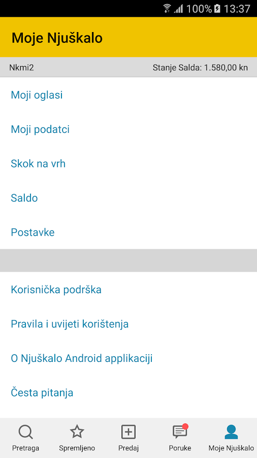 Njuškalo- screenshot
