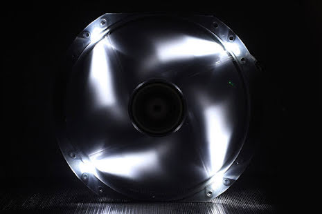 Bitfenix vifte m/hvit LED, Spectre, 230x30
