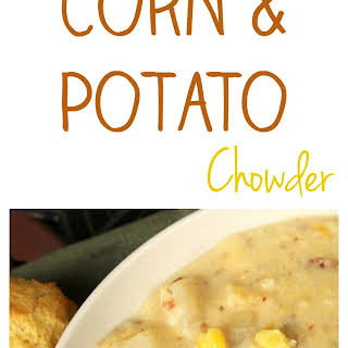 Corn and Potato Chowder Recipe for the Crock Pot Slow Cooker.