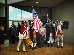 Photo: Combined GLD Color Guard Marching to Gerald R Ford Museum and grave site