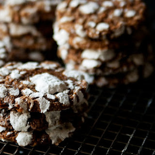 Soft Gingerbread Crinkle Cookies.