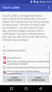 Touch Locker - lock the touchscreen! Screenshot