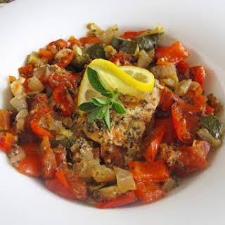 Slow Cooker Mediterranean Salmon.