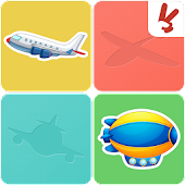 Planes memory game for kids