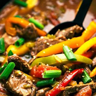 Crockpot Pepper Steak.